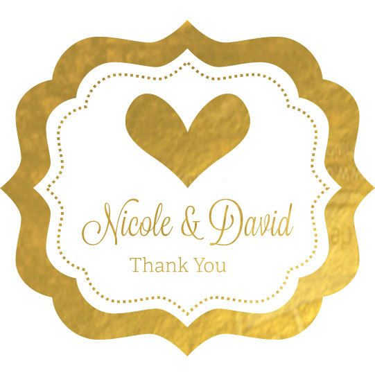 Wedding Anniversary Label Silver Gold Foil Wedding Sticker Metallic Foil Favor Label Brida Wedding Favor Stickers Wedding Labels Personalized Wedding Labels