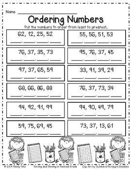 Back To School Math Freebie 2nd Grade Math Worksheets Second Grade Math Homeschool Math