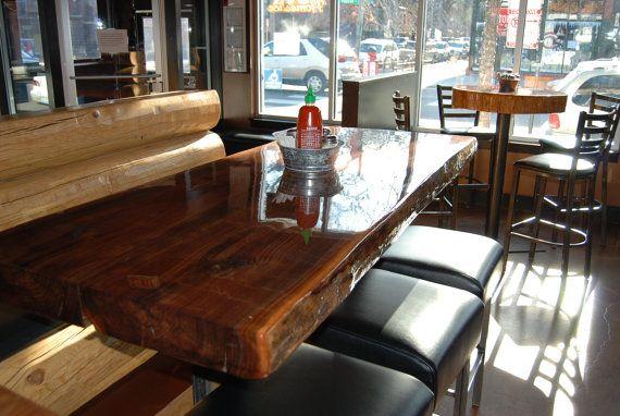 CUSTOM Live Edge Restaurant Style Dining Table Top Restaurant - Restaurant style kitchen table