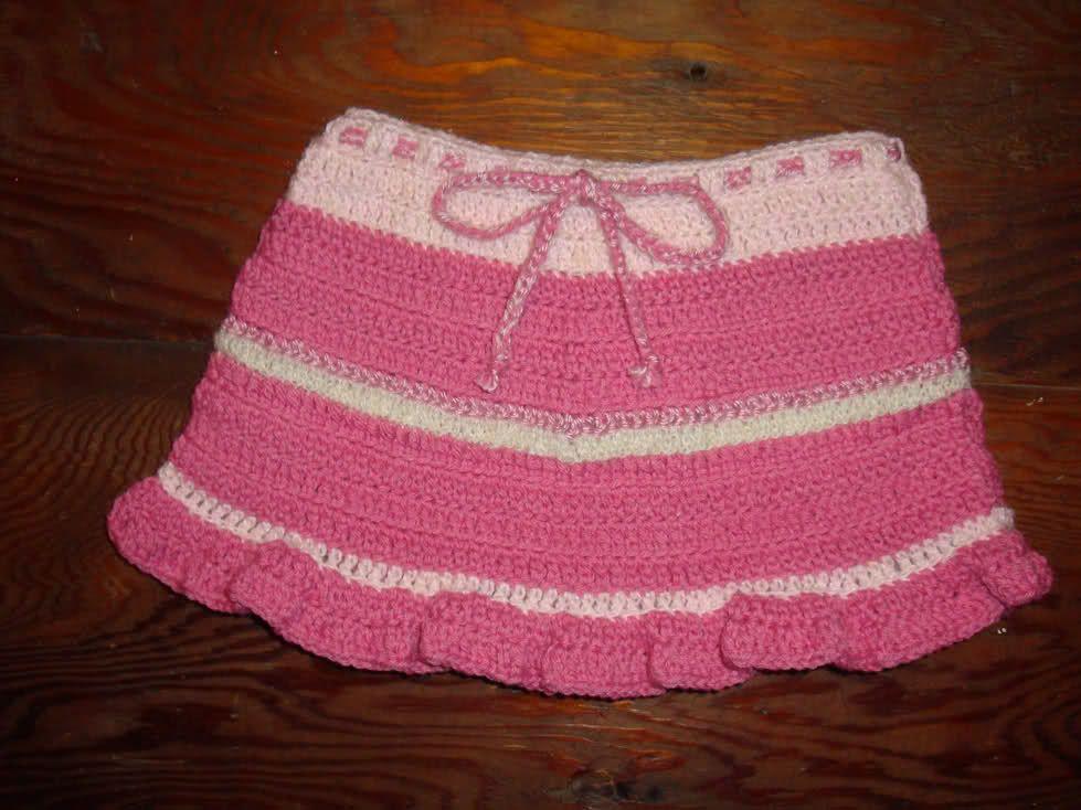 Girls Croceted Ruffle Skirt - CROCHET