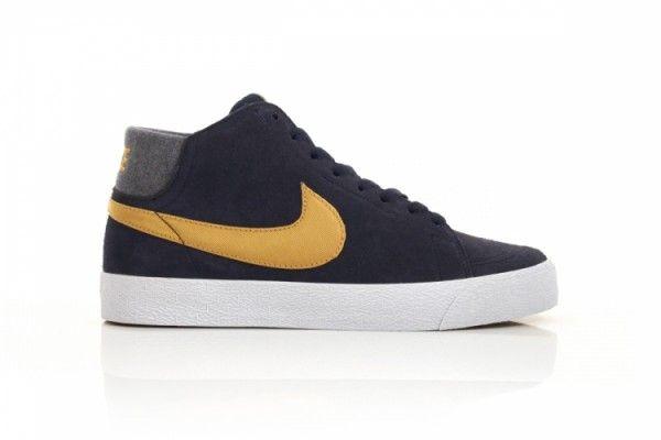 Nike SB Blazer Mid LR 'Obsidian/Gold' | SneakerFiles | Nike sb ...