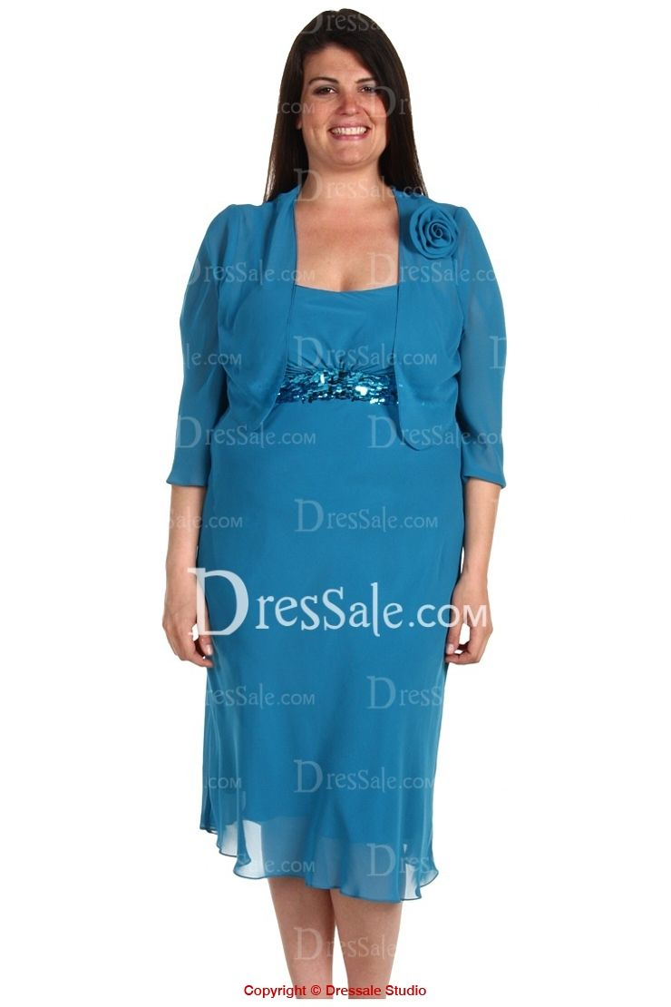 Chic Plus Size Mother of the Bride Dress with Sequins. All colors ...