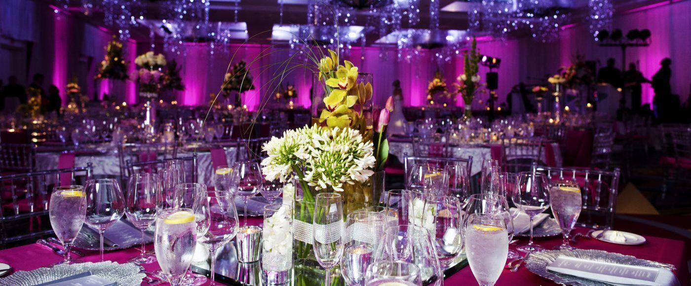 Gorgeous Table Settings At Hilton Virginia Beach Oceanfront Weddings