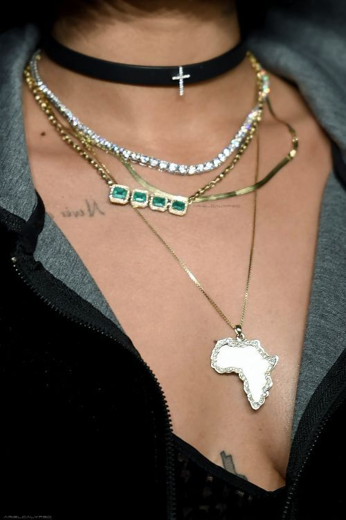 African chain layer necklace