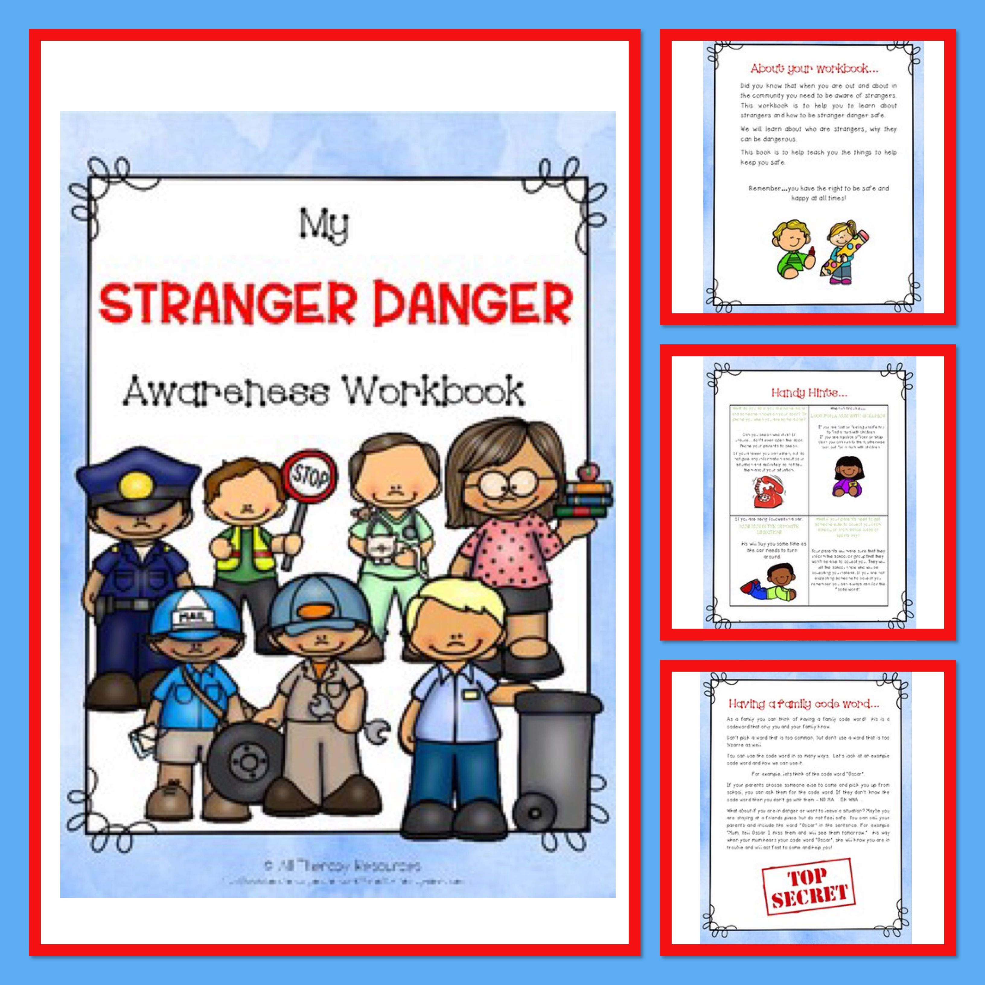 My Stranger Danger Awareness Workbook