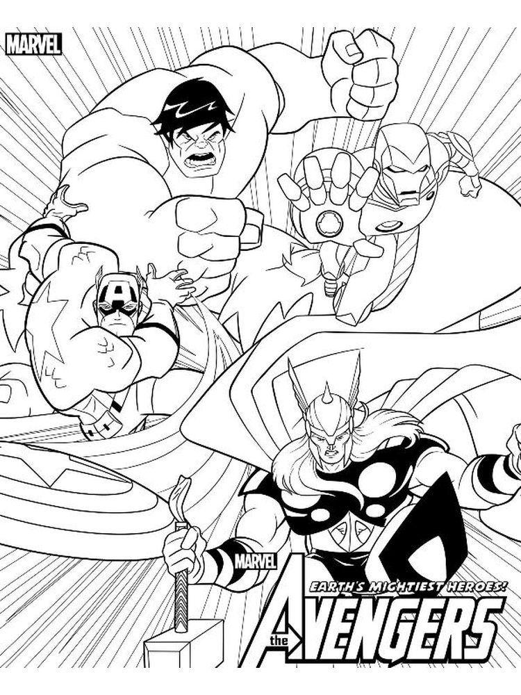 Avenger Coloring Pages Printable Dengan Gambar Buku Mewarnai