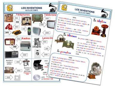 A La Grande Ecole Les Inventions Organisation De La Salle De Classe Histoire Ce2