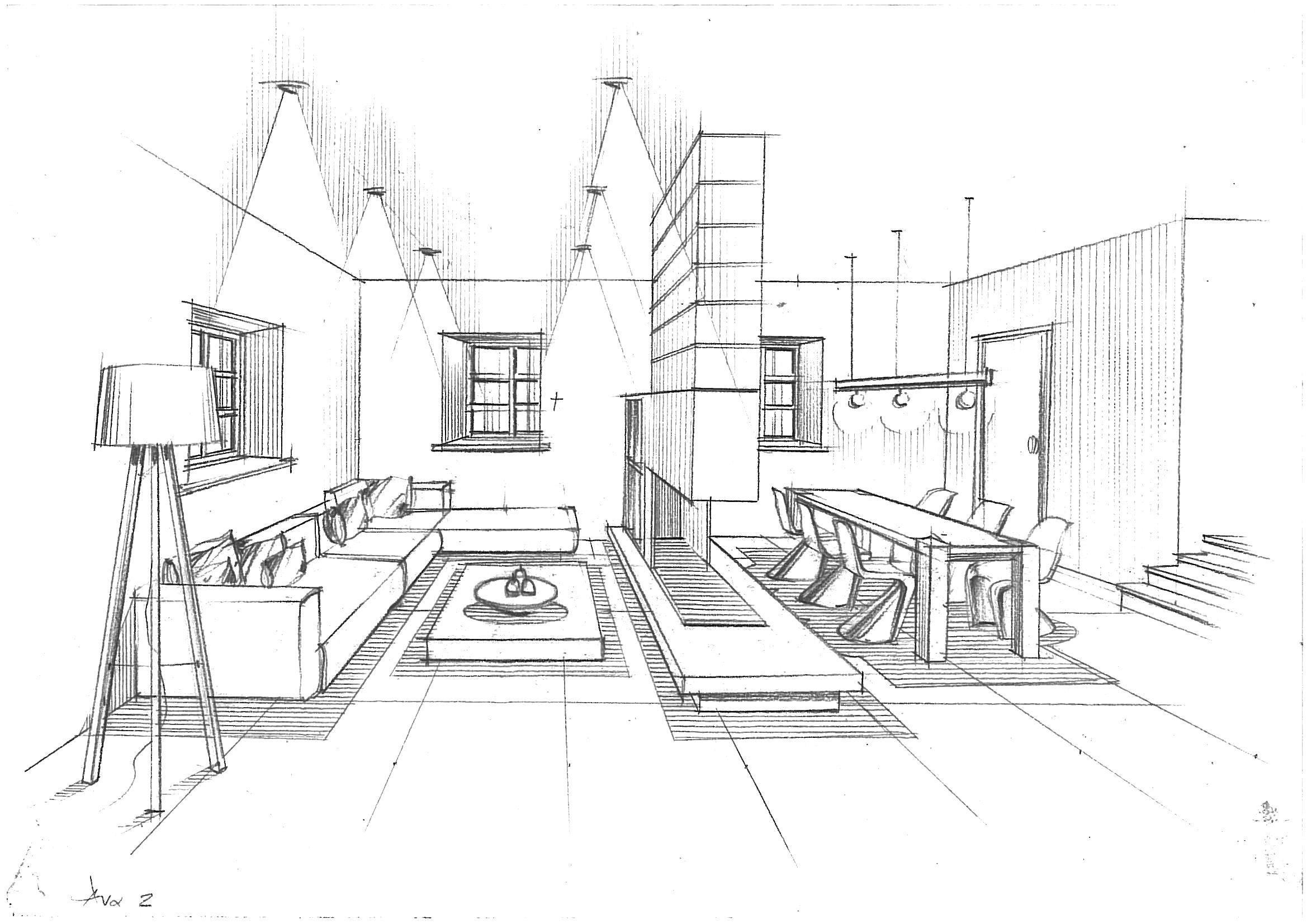 Modern Living Room College Project Urban Design