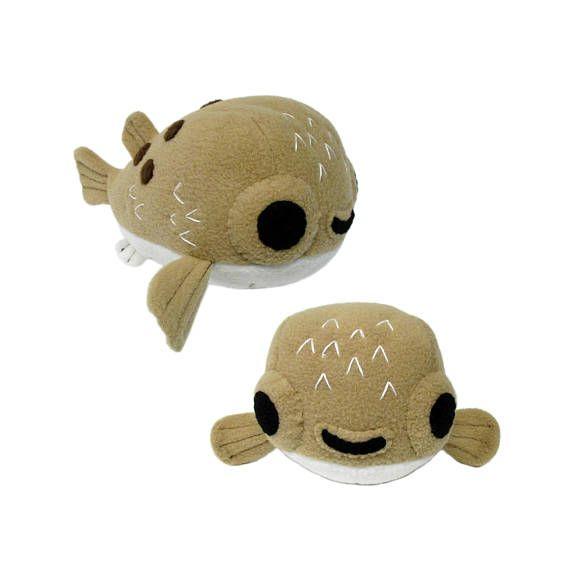 Stuffed Animal Pufferfish Pattern, Plush Sewing Pattern, Puffer Fish ...