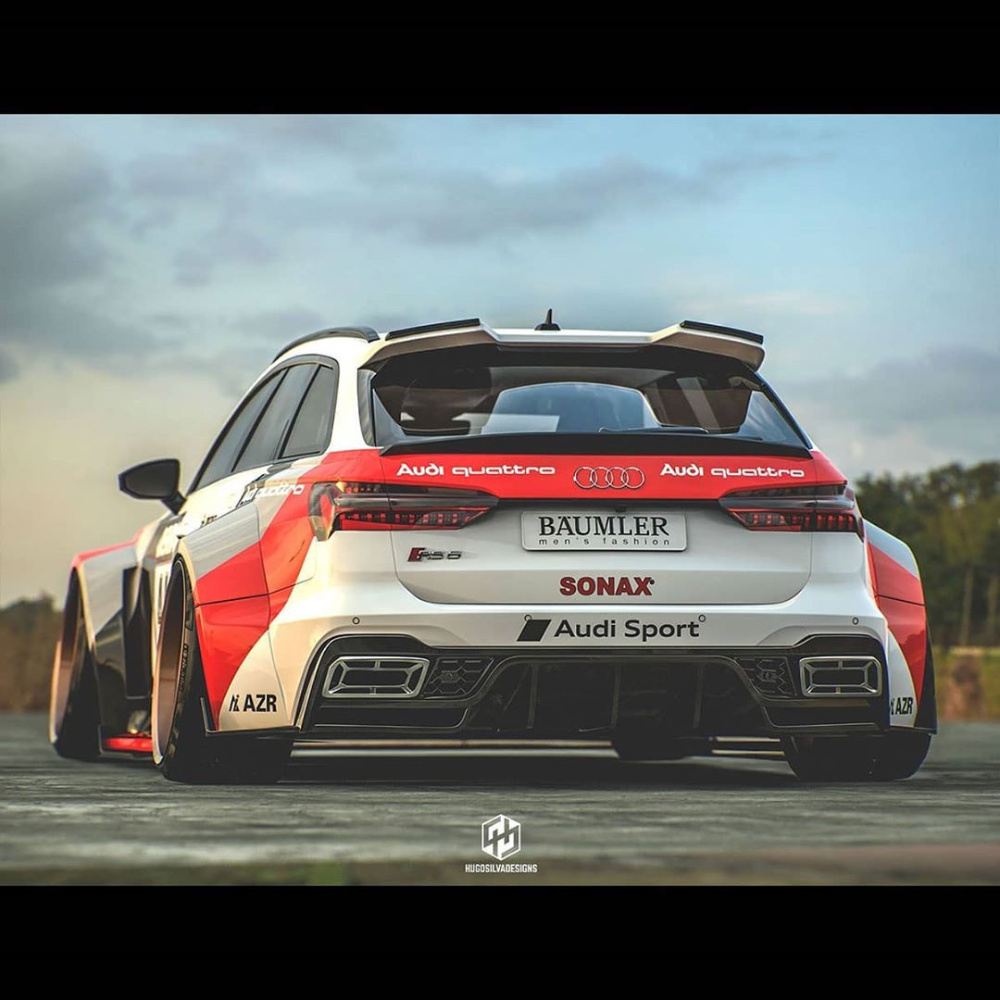 Widebody 2021 Audi Rs6 Avant Looks Like A 1980s Race Car Autoevolution Audi Rs6 Audi Audi Rs