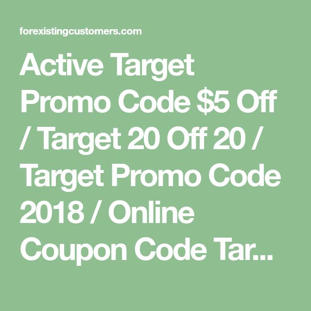 Active Target Promo Code 5 Off Target 20 Off 20 Target Promo