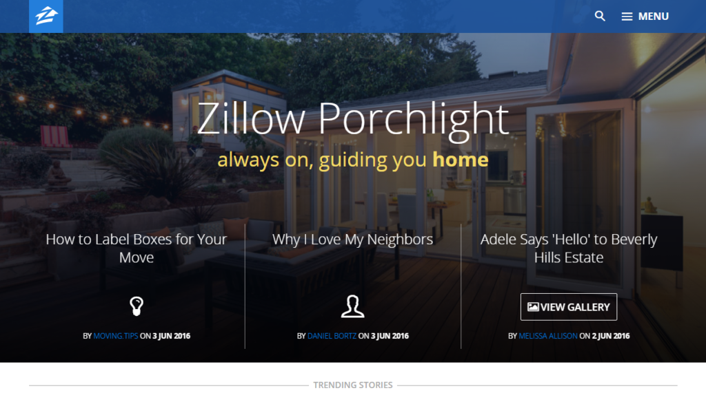 288fae6b215 Zillow's blog is a WordPress site! And a Webby Award Winning Website, too.