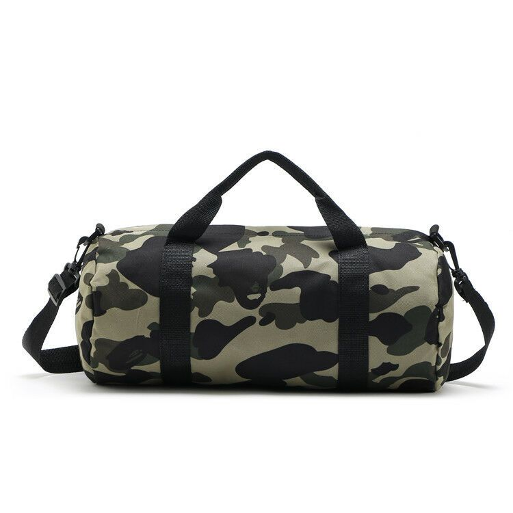 A BATHING APE BAPE Travel Rucksack Green Camo Handbag Sling Shoulder Bag Outdoor
