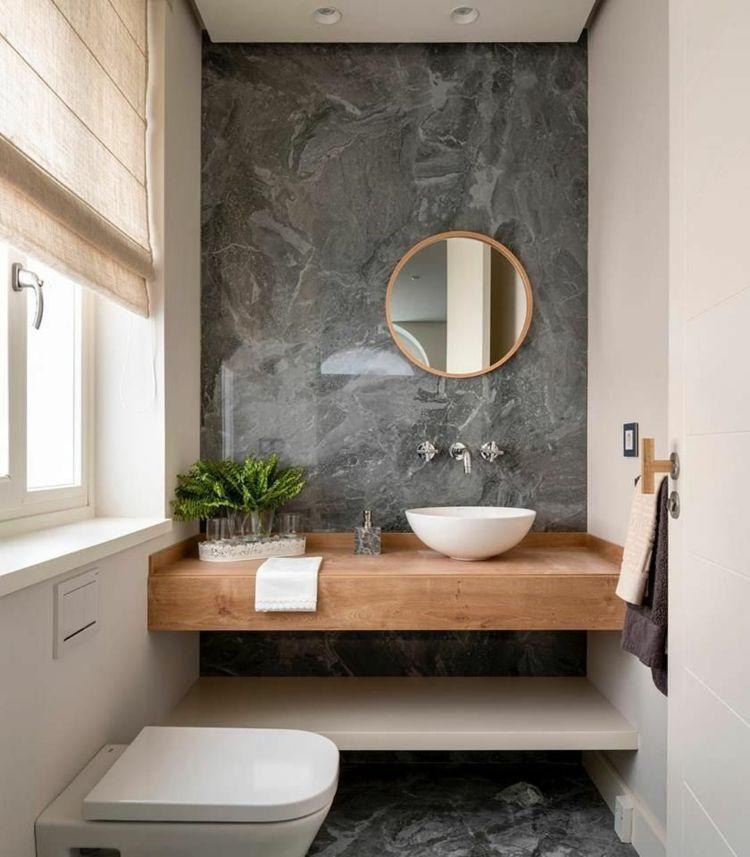 moderne Gäste WC Ideen mit grauem Naturstein und