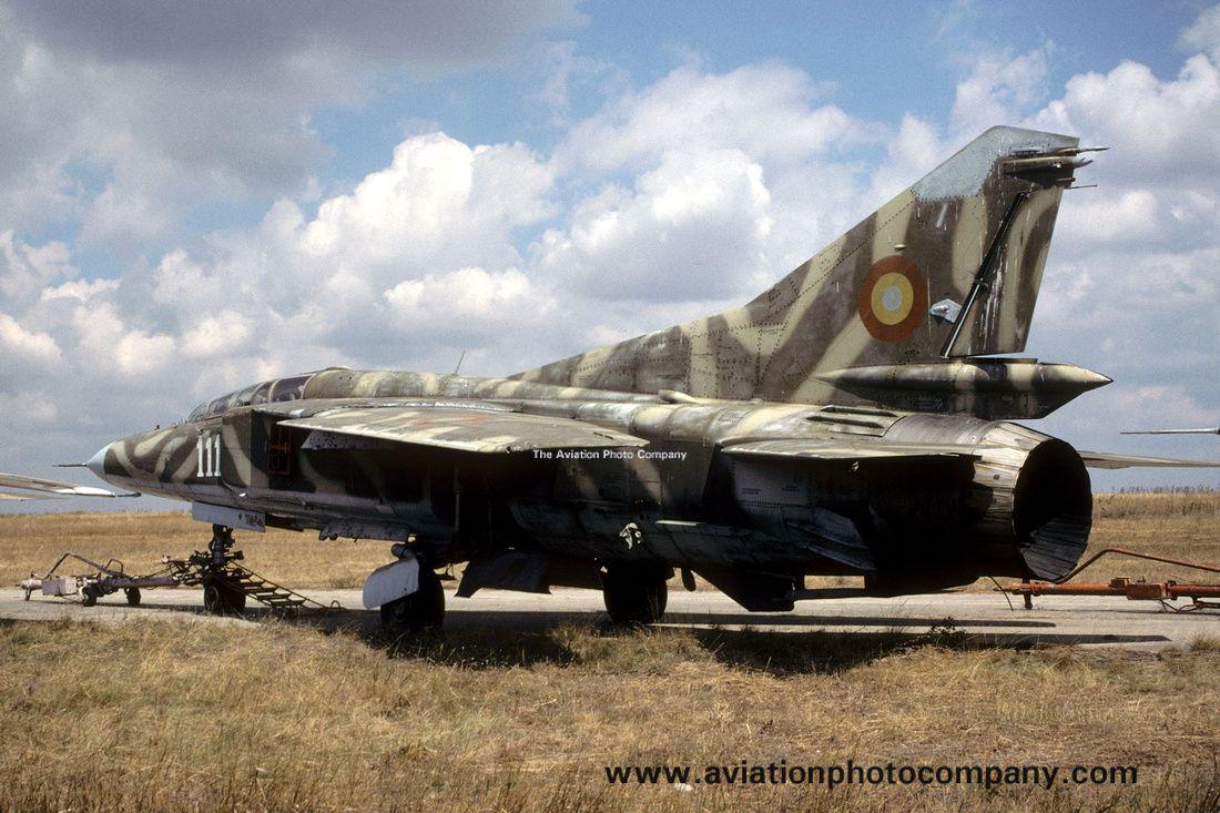 Romanian Air Force Mikoyan MiG23UB 111 stored at