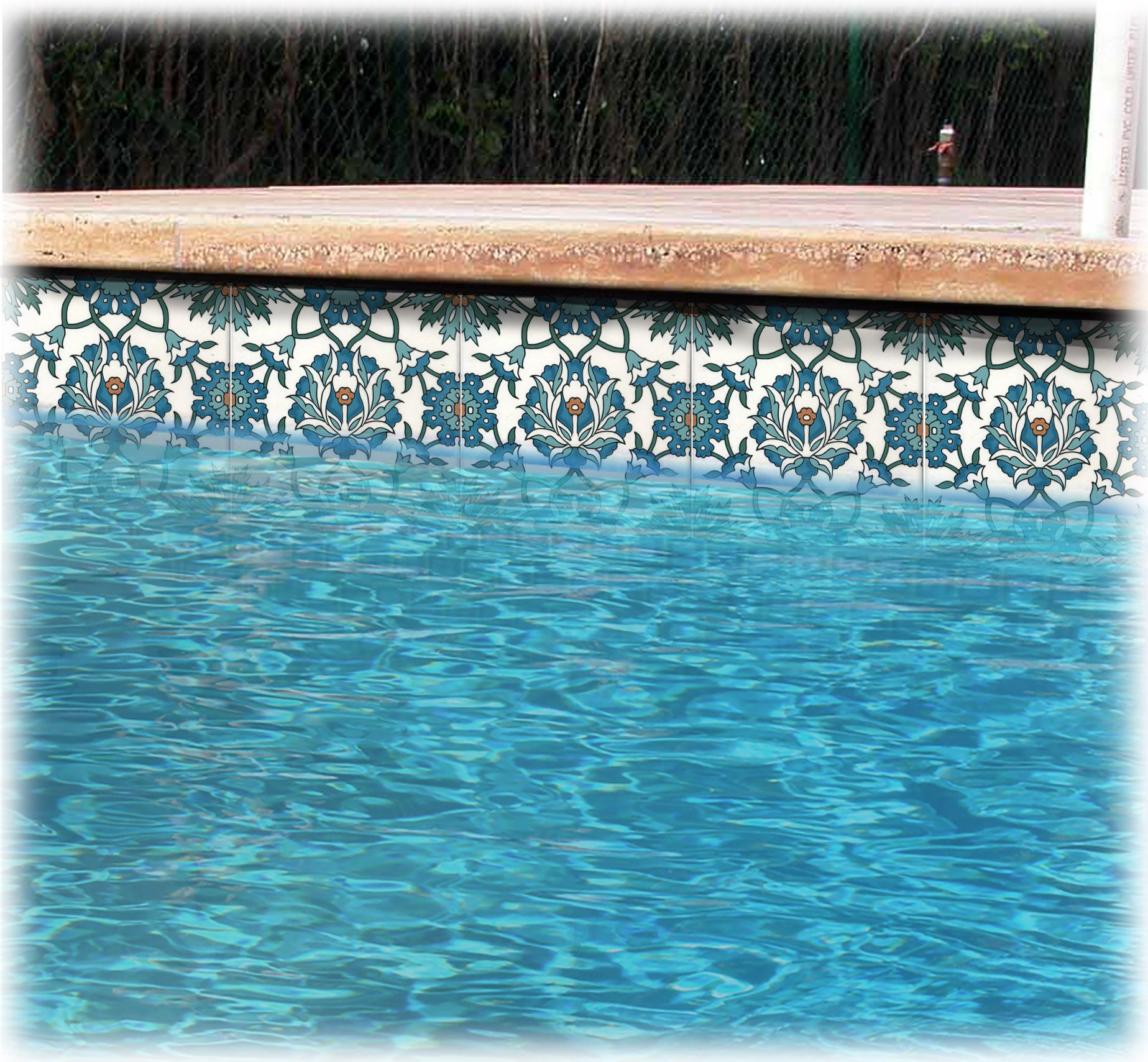 Lori swimming pool tile design liner small size pool in for Pool design pattern