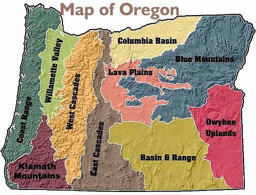 Oregon Ecoregions Oregon Traveloregon Visit Oregon Oregon Map Oregon Travel