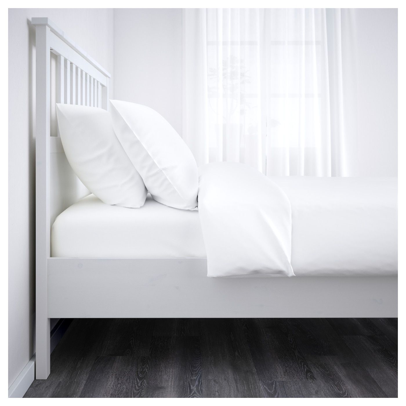 Hemnes Bed Frame White Stain Twin Mit Bildern Verstellbare