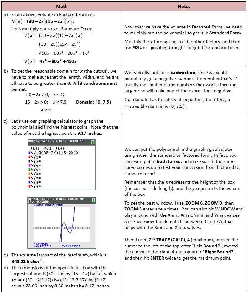 Polynomial Application Problem Secondary Math Pinterest