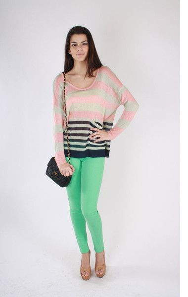 Trend alert! Bright and Bold! All you need is a white tank and you are all set to go for a casual look. For night throw on a sexy black top and heels and you will have everyone green with envy.