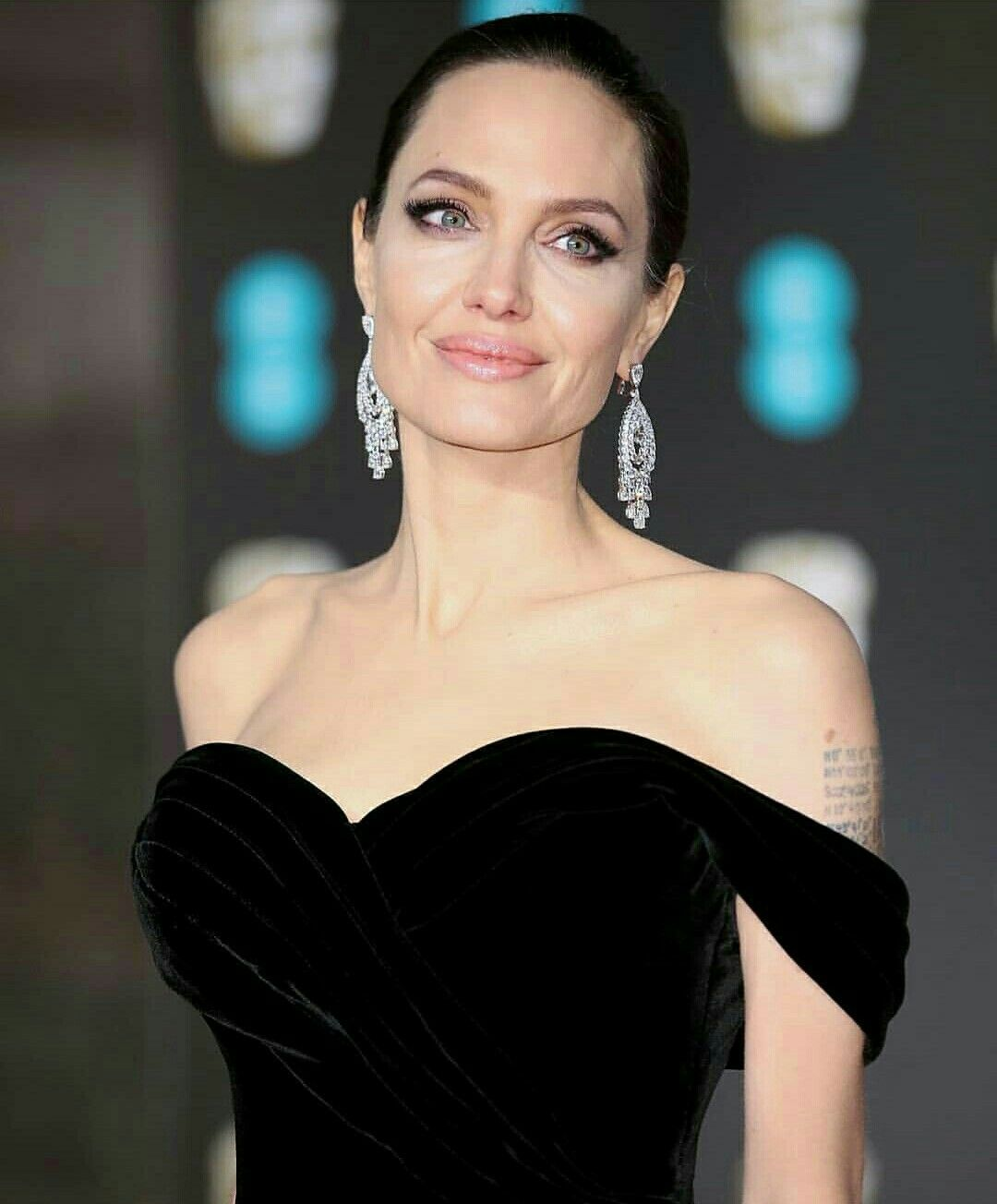 Angelina Jolie at the BAFTA Awards 2018 red carpet