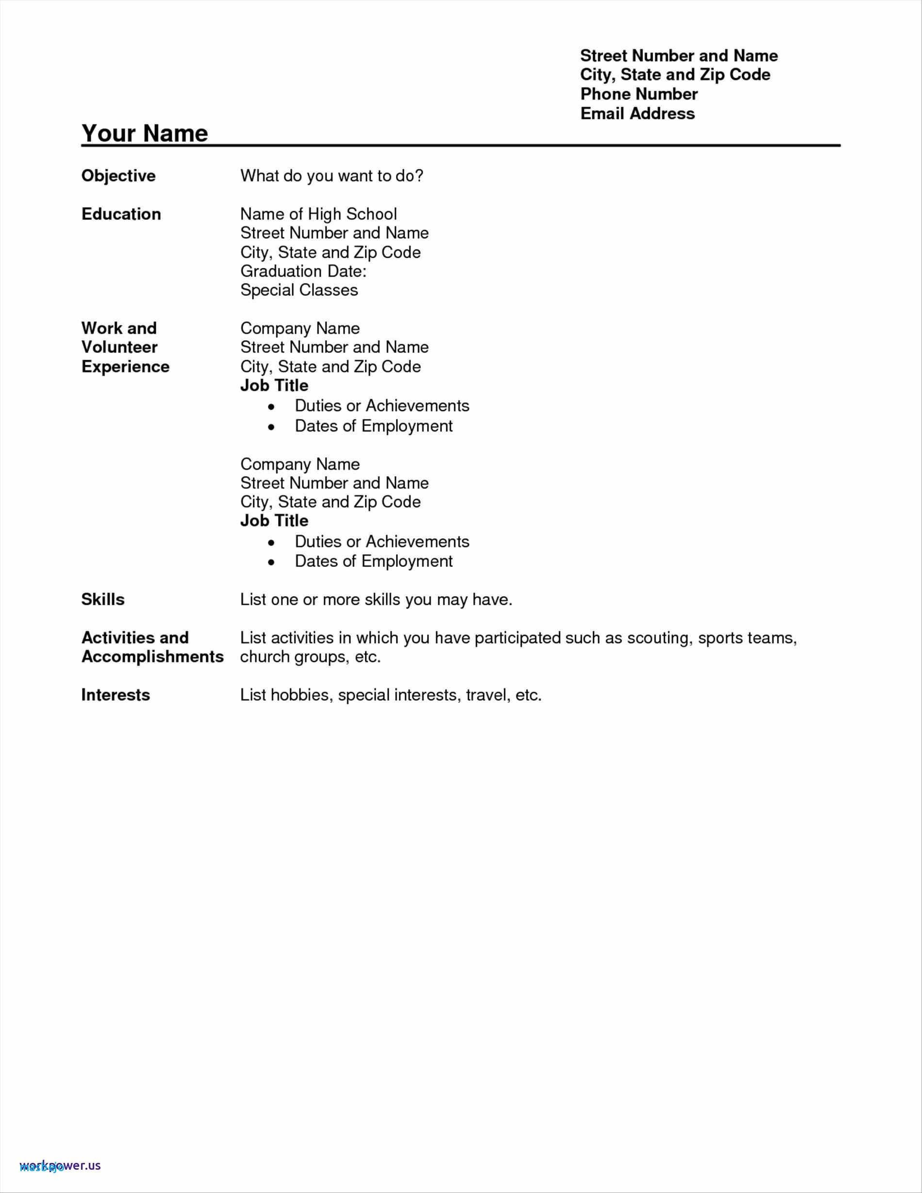 Resume Examples No Experience Student resume template