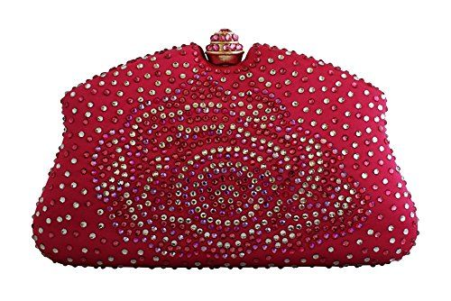f86de1616b Chicastic Hot Pink Multi Color Rhinestone Crystal Hard Box Cocktail Clutch  Purse * You can find out more details at the link of the image.
