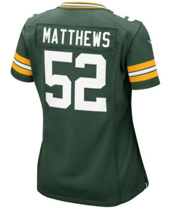 watch 78b44 a3e39 Women's Clay Matthews Green Bay Packers Game Jersey ...