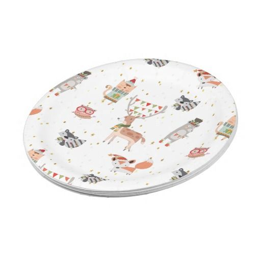 Cute Christmas Woodland Animals Paper Plate  sc 1 st  Pinterest & Cute Christmas Woodland Animals Paper Plate | Woodland animals and ...