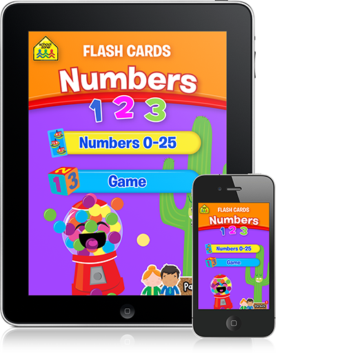 Numbers Flash Cards (iOS App) (With images) Flashcards