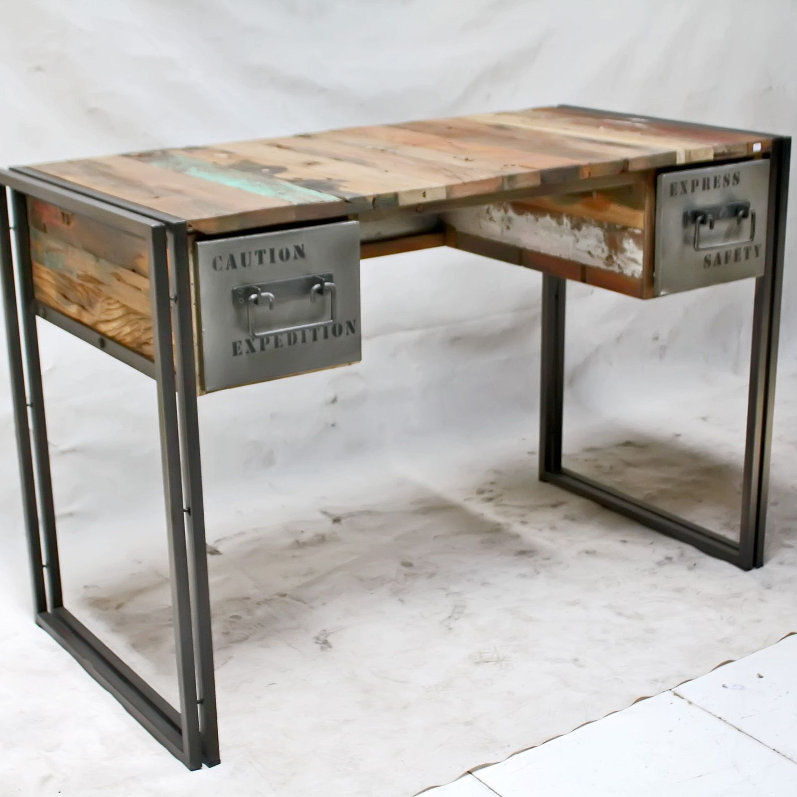 Captivating Office Study Desk Wood Industrial Style Office Furniture
