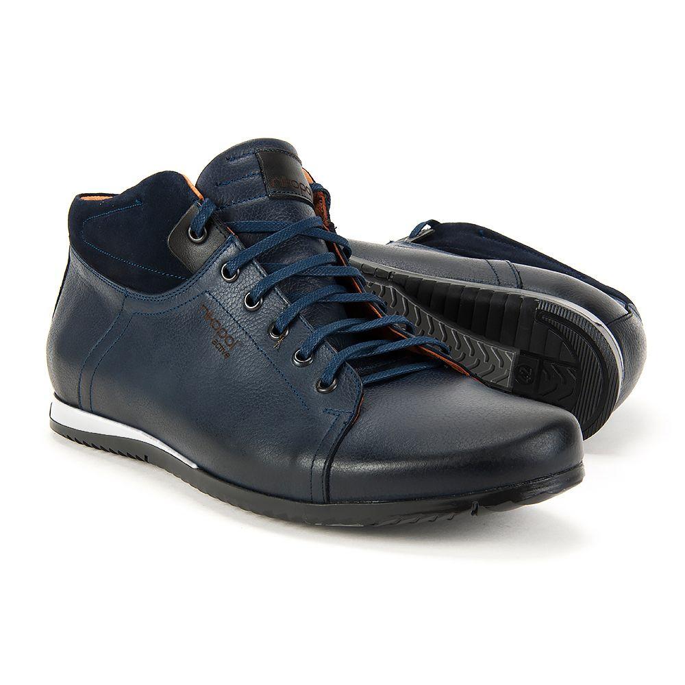 Polbuty Nikopol 1558 Granatowe Lico Meskie Shoes Sneakers Fashion