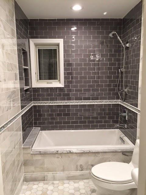 4 x 6 shower design. The Tile Shop Hampton Carrara Hex Marble Mosaic on floor  4 x 12 wall