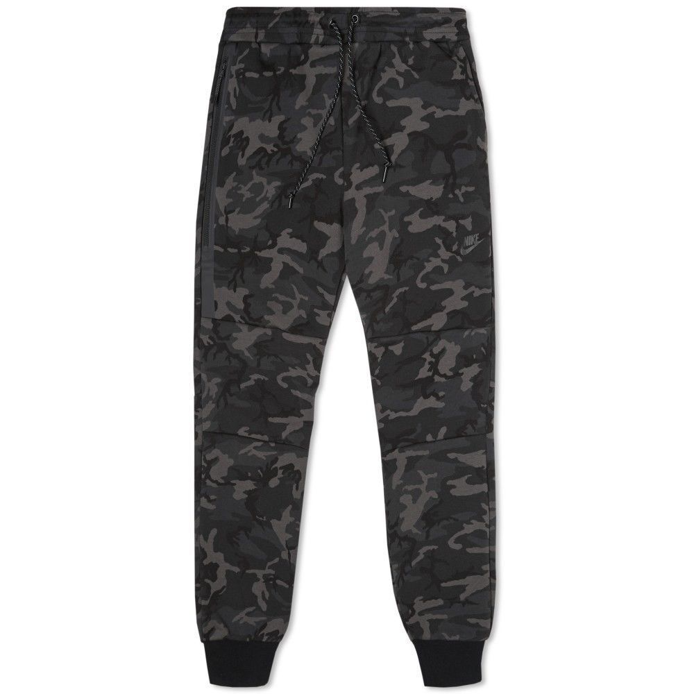 NIKE TECH FLEECE SWEATPANTS JOGGER CAMO GREY BLACK TAPERED