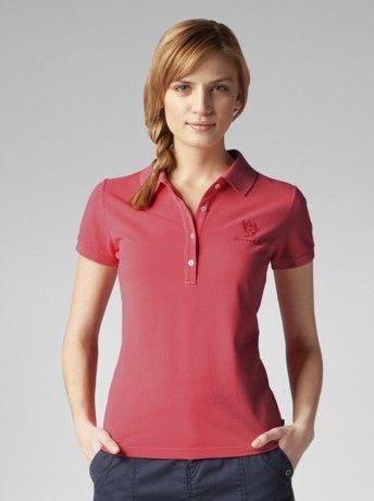 8402d48873 Camisa polo feminina vermelha
