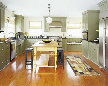 soft green kitchen island eat in kitchens island table upper cabinets and space photos