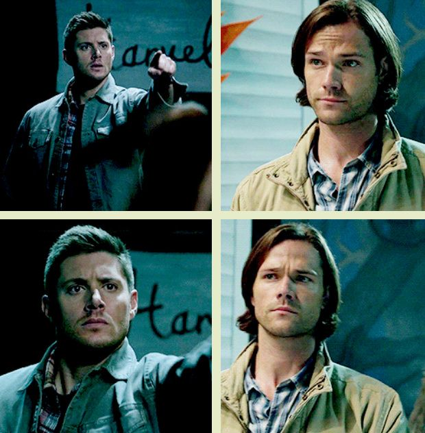 "[GIFSET] 10x05 Fan Fiction. This part had me in stitches!! XD Sam's just like, ""Yeah, man. You. Awesome."""