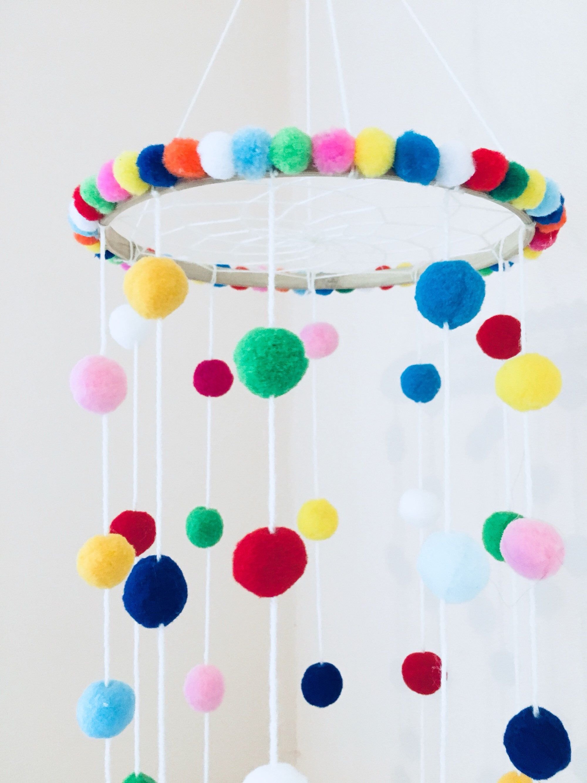 Pom Pom Felt Balls Christmas Decor Bright color for kids Nursery Craft supplies