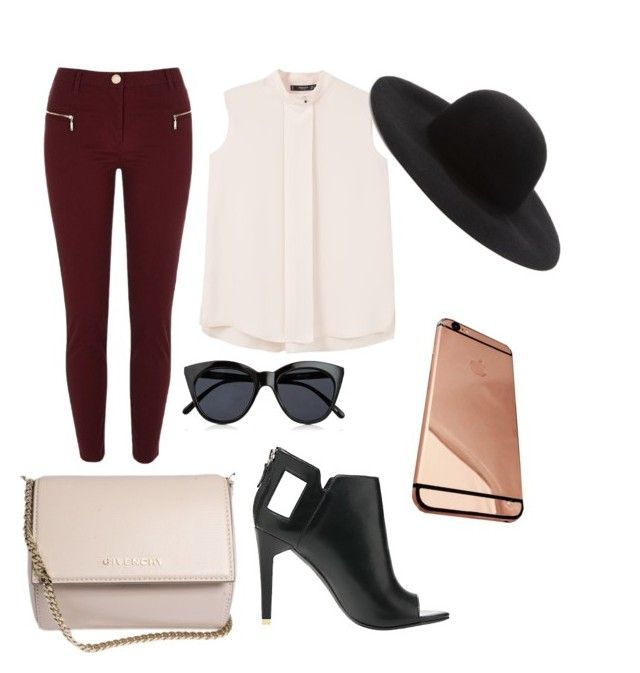 """""""modern day"""" by sarah-datri ❤ liked on Polyvore featuring River Island, MANGO, Alepel, Givenchy, Le Specs, Forever 21 and modern"""