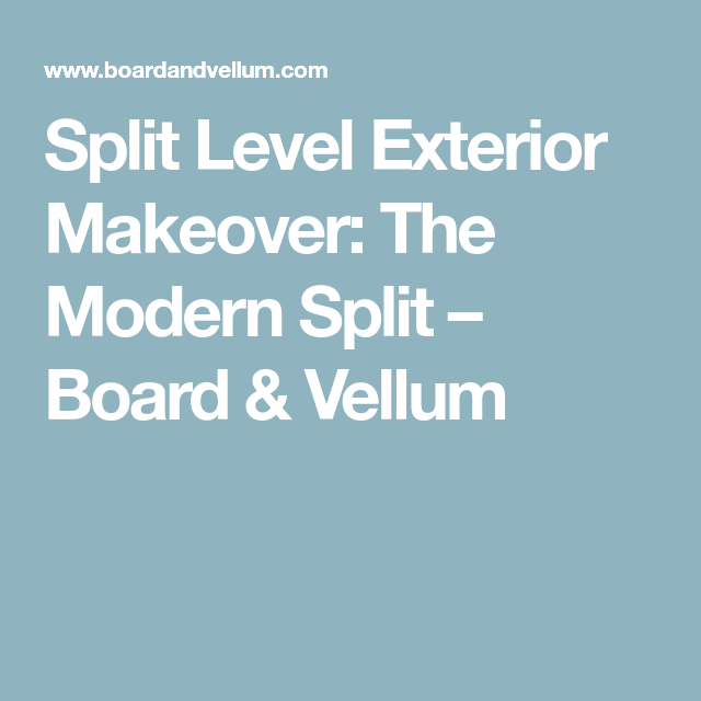 Modular Split Level Deck: Split Level Exterior Makeover: The Modern Split