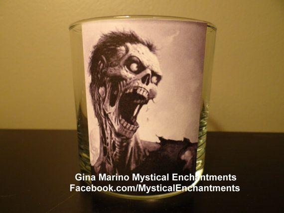 Halloween Zombie votivetea light candle by MYSTICALLYENCHANTING, $5.50