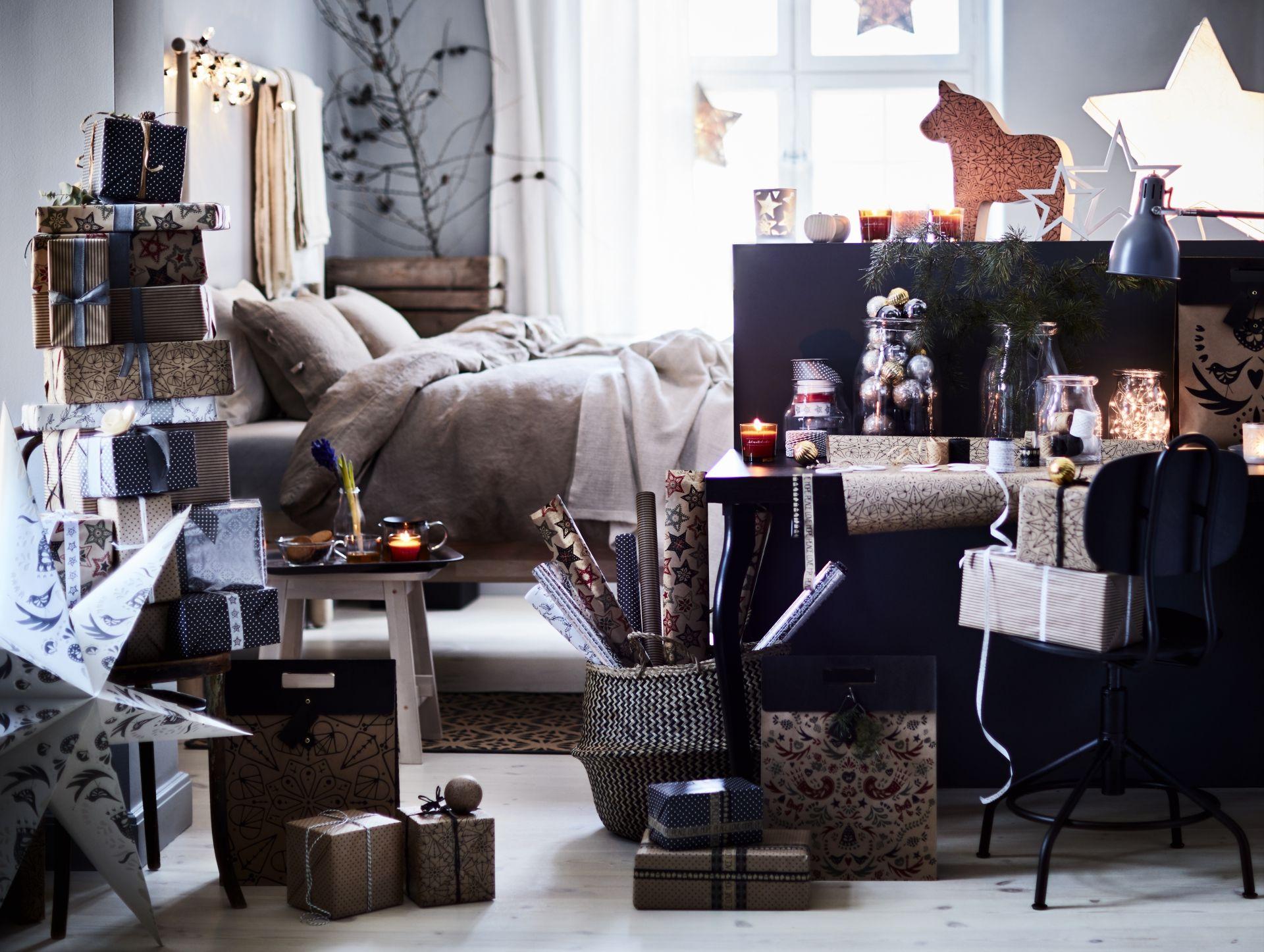 vinter 2016 cadeauverpakking ikea ikeanl kerst zwart wit goud knutselen diy eten hout decoratie recepten