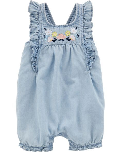 dd5dff88b268 Floral Chambray Romper from Carters.com. Shop clothing   accessories from a  trusted name