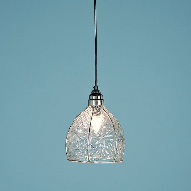 Chicken Wire Glass Pendant - WIRE Center •
