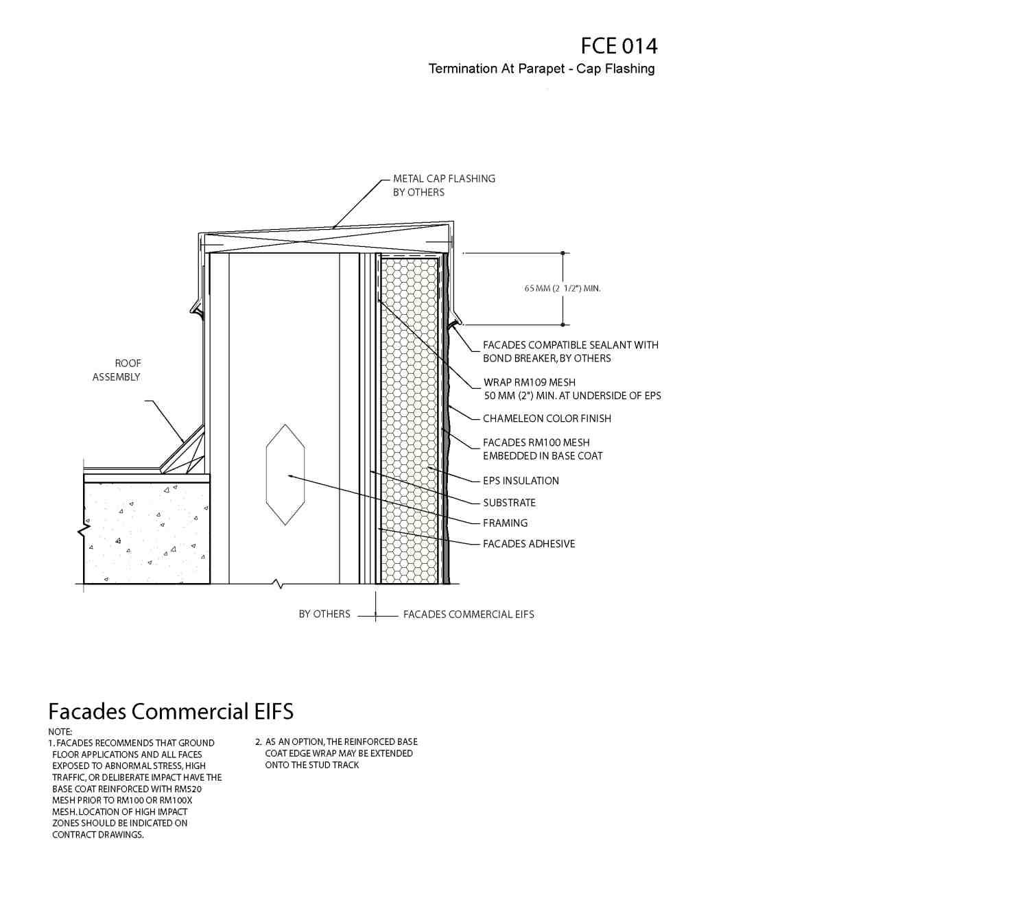 14 Eifs Details Termination At Parapet Cap Flashing Eifs