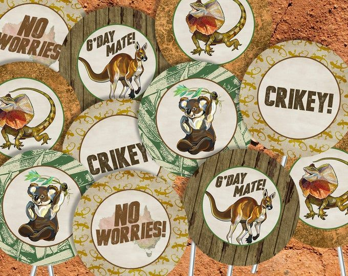Australian Animals Party Pack INSTANT DOWNLOAD Party