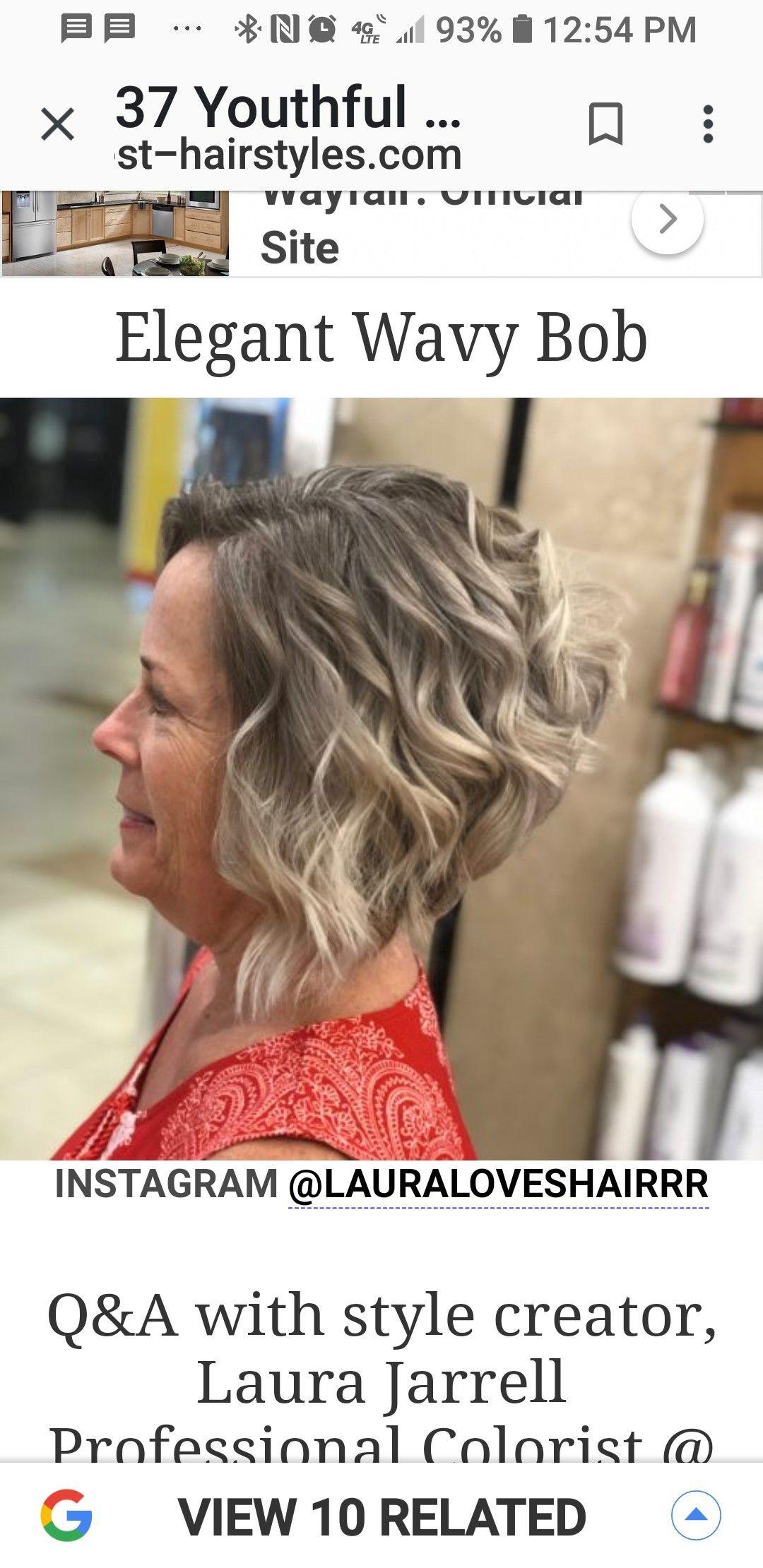 Pin By Lori Truesdell On Hairstyles Bob Instagram Wavy Bobs Hair Styles
