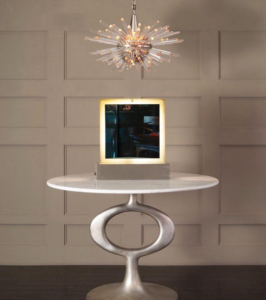 Rare Table Lamp By Angelo Lelli For Arredoluce Mirror Table Lamp Table Lamp Vanity Mirror