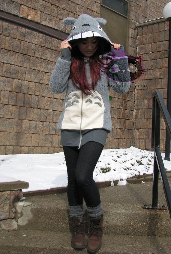 Totoro hoodie sweater!!! Super cute!  $150.00 on Etsy from Ridikitty. by jean