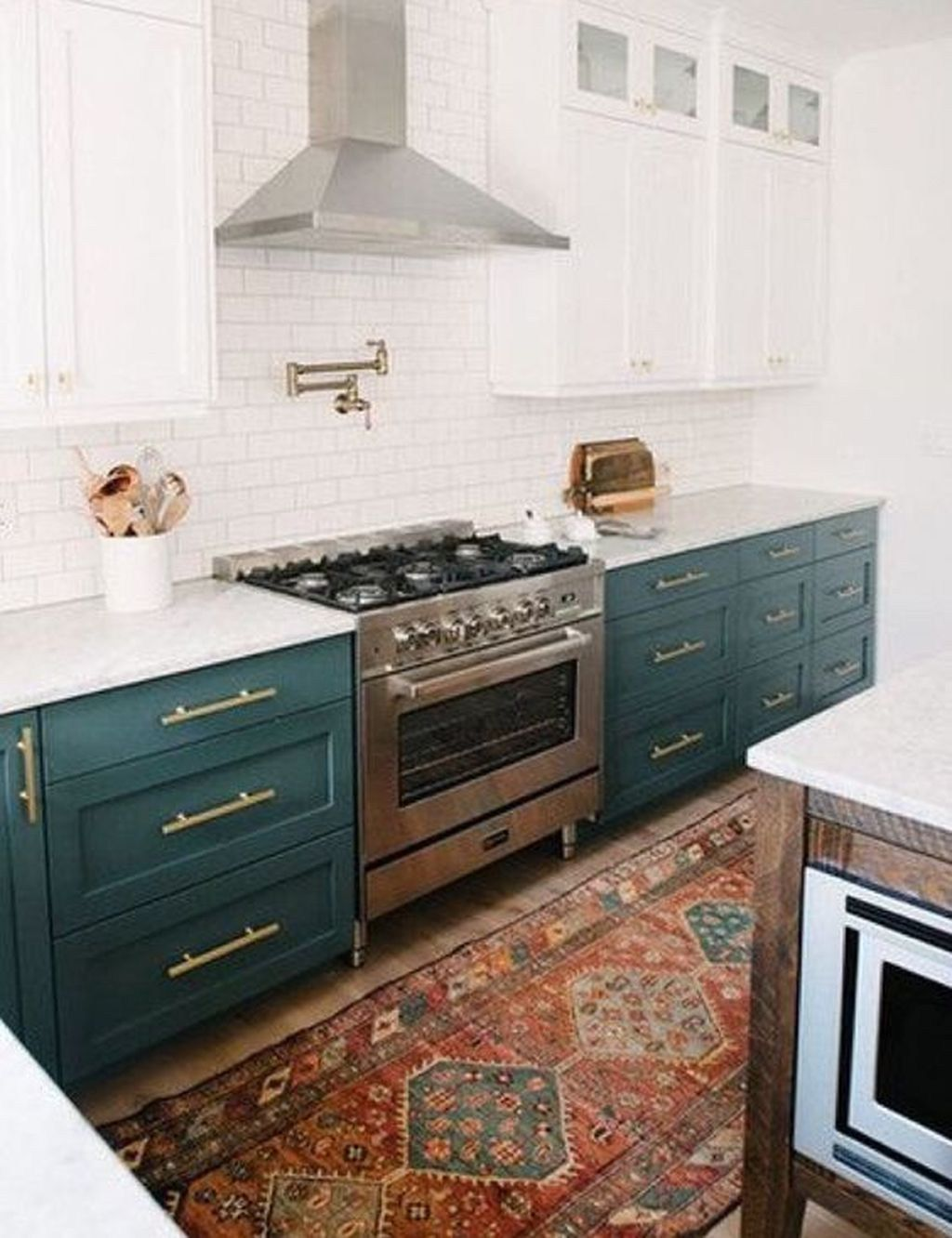 32 Gorgeous Bohemian Style Kitchen Decor Ideas Popy Home Beautiful Kitchen Cabinets Best Kitchen Cabinets Kitchen Cabinet Colors